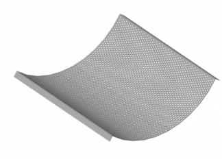 Сита для дробилки GHMB-1000 (440х1042х2 мм, D=4 мм)