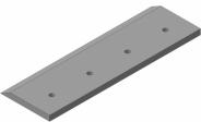Нож прямой на резчик рулонов ИРК-01