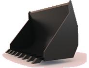 Ковш КШ-0.5 усиленный фронтальный 0.5 м3